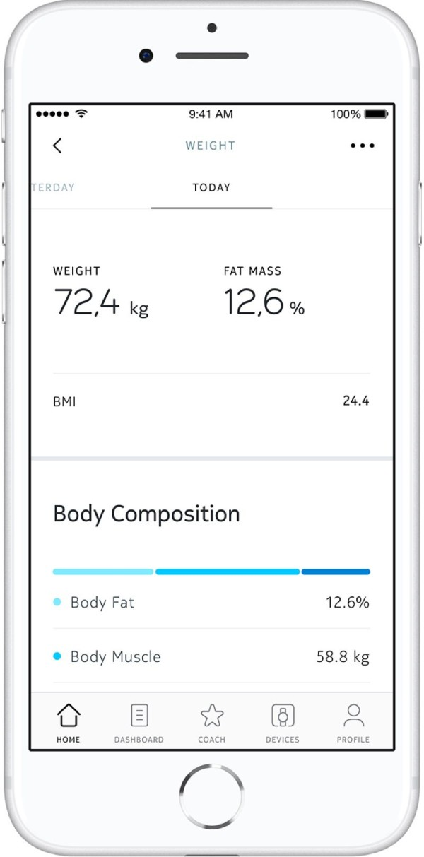 Whithings smart scales app