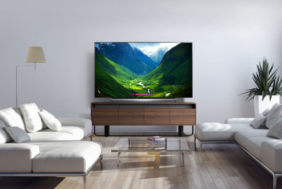 OLED TV at home