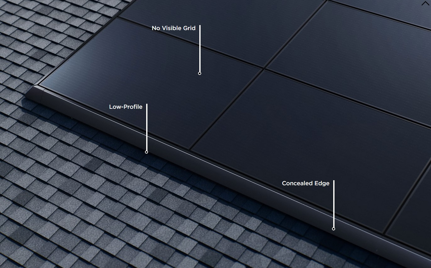 Tesla solar panels are low-profile and durable