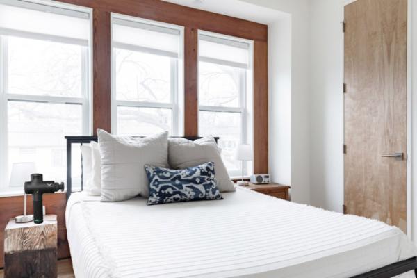 Hypervolt Massage gun in bedroom