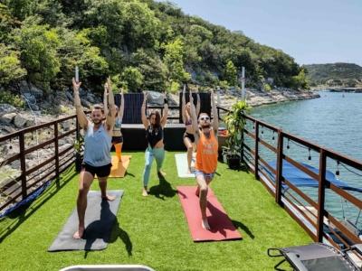 Yoga On Houseboat-Yacht Lake Travis Experience